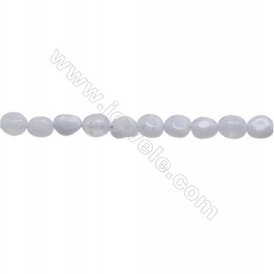 "Natural Blue Chalcedony Beads Strand  Irregular  Size 5~6x6~7mm   hole 1mm  15~16"" x 1strand"