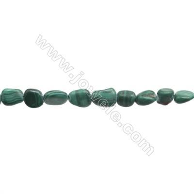 """Natural Green Malachite Beads Strand  Irregular  Size 6~7x6~10mm  hole 1mm  15~16"""" x 1strand"""