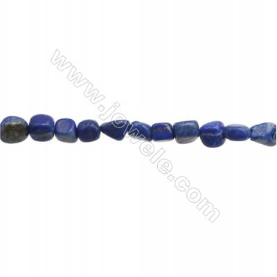 "Natural Lapis Lazuli Beads Strand  Irregular  Size 6~7x6~10mm  hole 1mm  15~16"" x 1strand"