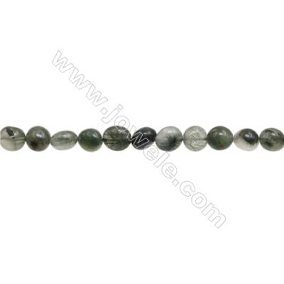 """Natural Rutilated Quartz Beads Strand  Chips  Size 6~7x8~9mm  hole 1mm  15~16"""" x 1strand"""