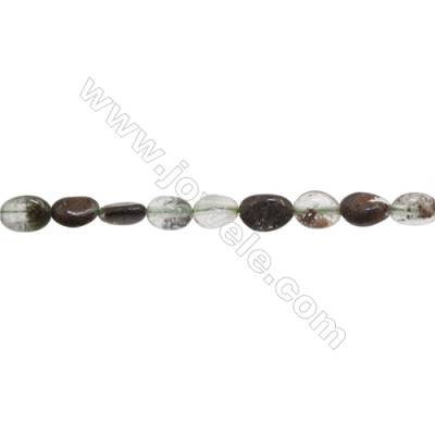 "Natural Lodolite Beads Strand  Irregular  Size 5~6x8~9mm  hole 1mm  15~16"" x 1 strand"