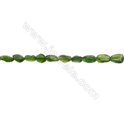 "Natural Tsavorite Chips Beads  Size 5~6x6~9mm  hole 1mm  15~16"" x 1strand"