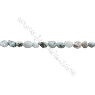 "Natural Larimar Beads Strand Irregular  Size 4~5x5~8mm   hole 1mm  15~16"" x 1strand"