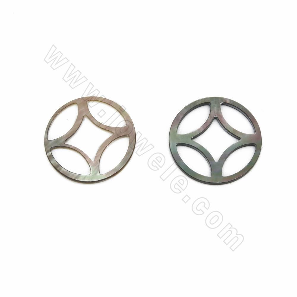 20 pcs Resin Shells Craft Cabochons Faux Pearl Decor 24x30mm DIY Jewelry Making