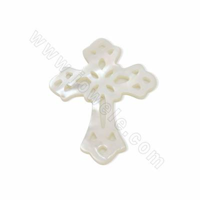 Hollow cross shaped white...