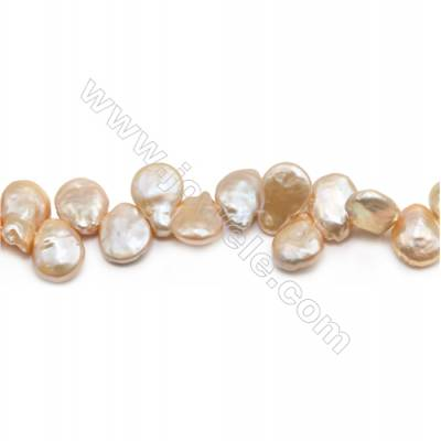 "Fresh Water Pink Pearl Beads Strand  Teardrop  Size 13~14x16~18mm  Hole 0.8mm  15~16"" x 1strand"