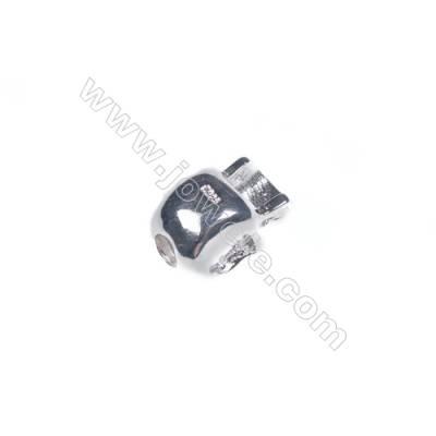 925 sterling silver skull jewelry accessories 7x11 mm x 5pcs hole diameter 3 mm