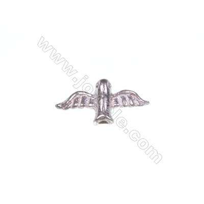 925 sterling silver bird jewelry accessories, 6x13mm, x 30pcs, hole 1mm