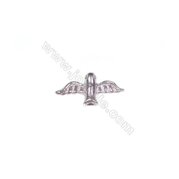 925 sterling silver bird jewelry accessories, 6x13mm, x 30pcs, hole 1mm
