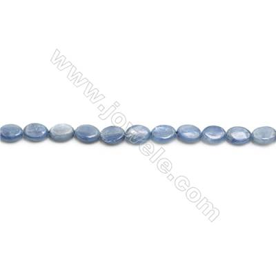 """Natural Kyanite Beads Strand  Flat Oval  Size 6x8mm  hole 0.8mm  about 51 beads/strand 15~16"""""""