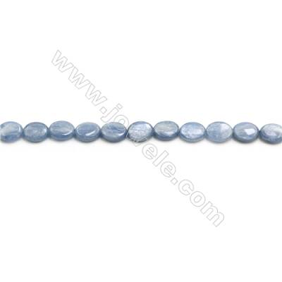 Natural Kyanite Beads Strand  Flat Oval  Size 7x9mm  hole 0.8mm  about 46 beads/strand 15~16""