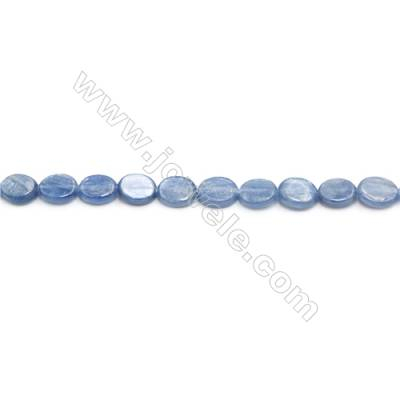 Natural Kyanite Beads Strand  Flat Oval  Size 8x10mm  hole 1mm  about 42 beads/strand 15~16""