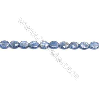 Natural Kyanite Beads Strand  Flat Oval  Size 10x12mm  hole 1mm  about 35 beads/strand 15~16""