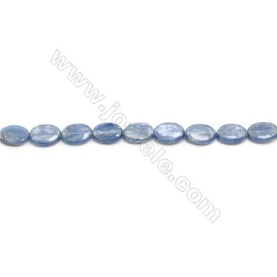 Natural Kyanite Beads Strand  Flat Oval  Size 10x14mm  hole 1mm  about 29 beads/strand 15~16""