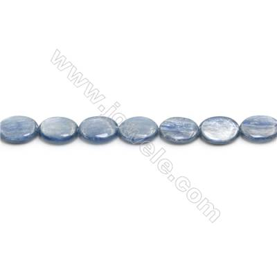 """Natural Kyanite Beads Strand  Flat Oval  Size 12x16mm  hole 1.5mm  about 26 beads/strand 15~16"""""""