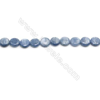 Natural Kyanite Beads Strand  Flat Round  Diameter 12mm  hole 0.8mm  about 26 beads/strand 15~16""