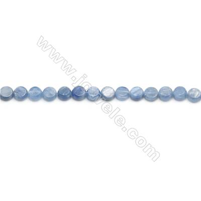 """Natural Kyanite Beads Strand  Flat Round  Diameter 6mm  hole 0.7mm  about 71 beads/strand 15~16"""""""