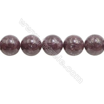 """Natural Lepidolite Beads Strand  Round  Diameter 14mm  Hole 1mm  about 25 beads/strand  15~16"""""""