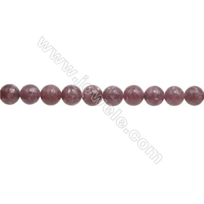 """Natural Lepidolite Beads Strand  Round  Diameter 6mm  Hole 0.8mm  about 67 beads/strand  15~16"""""""