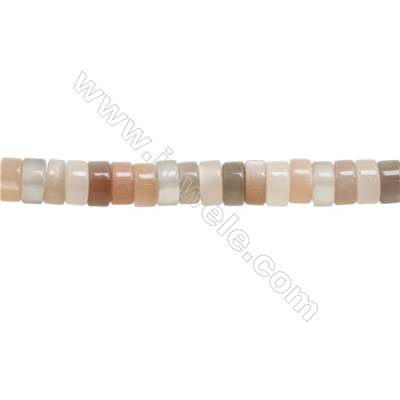 Natural Moonstone Beads Strand  Column  Size 8x14mm  hole 0.8mm  about 105 beads/strand 15~16""