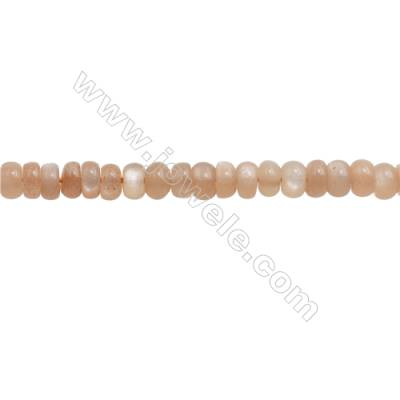Natural Orange Moonstone Beads Strand  Abacus  Size 4x6mm  hole 0.8mm  about 119 beads/strand 15~16""