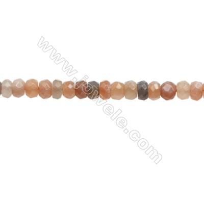 Natural Moonstone Beads Strand  Faceted Abacus  Size 4x6mm  hole 0.8mm  about 104 beads/strand 15~16""