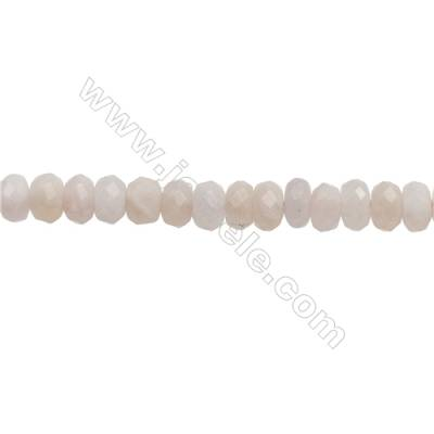 Natural Pink Morganite Beads Strand  Faceted Abacus  Size 5x8mm  Hole 0.8mm  about 85 beads/strand  15~16""