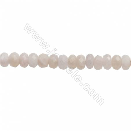 """Natural Pink Morganite Beads Strand  Faceted Abacus  Size 5x8mm  Hole 0.8mm  about 85 beads/strand  15~16"""""""