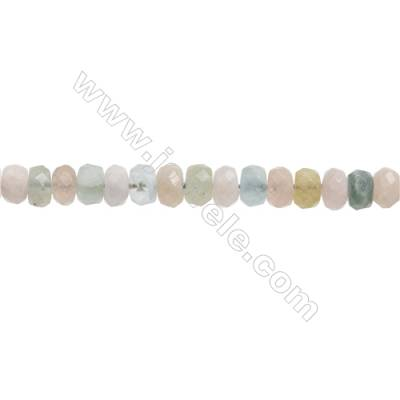 Natural Morganite Beryl Beads Strand  Faceted Abacus  Size 5x8mm  Hole 0.8mm  about 85 beads/strand  15~16""
