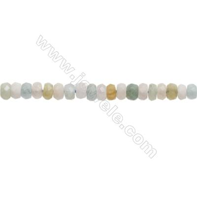Natural Morganite Beryl Beads Strand  Faceted Abacus  Size 4x6mm  Hole 0.8mm  about 112 beads/strand  15~16""
