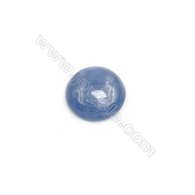 Natural Kyanite Round Cabochon  Flat Back  Diameter 12mm  20 pcs/pack