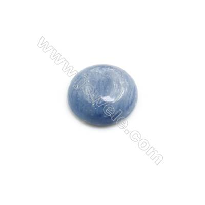 Natural Kyanite Round Cabochon  Flat Back  Diameter 14mm  10 pcs/pack