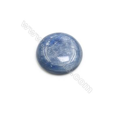 Natural Kyanite Round Cabochon  Flat Back  Diameter 18mm  10 pcs/pack