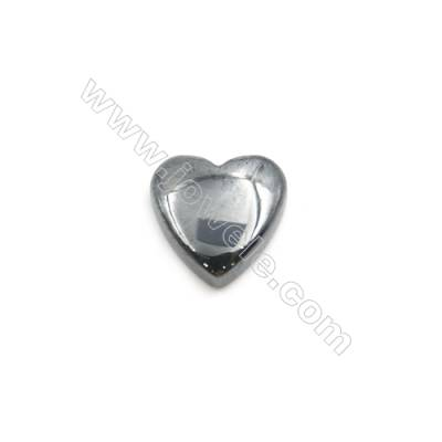 Synthetic Hematite Heart Cabochon  Flat Back  Size 8x8mm  100 pcs/pack