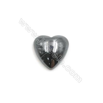 Synthetic Hematite Heart Cabochon  Flat Back  Size 10x10mm  100 pcs/pack