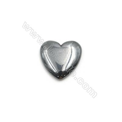 Synthetic Hematite Heart Cabochon  Flat Back  Size 12x12mm  50 pcs/pack