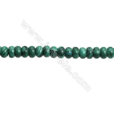 Natural Malachite Gemstone Beads Strand  Abacus  Size: 5x8mm  Hole 0.8mm  about 84 beads/strand 15~16""