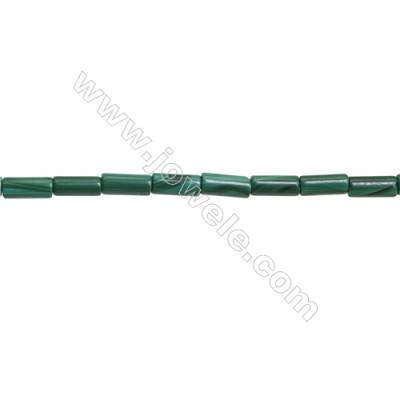 Natural Malachite Gemstone Beads Strand  Column  Size: 4x10mm  Hole 1mm  about 42 beads/strand 15~16""