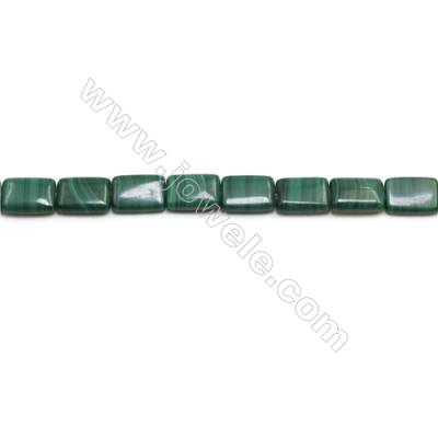 Natural Malachite Gemstone Beads Strand  Rectangle  Size: 10x14mm  Hole 1mm  about 28 beads/strand 15~16""