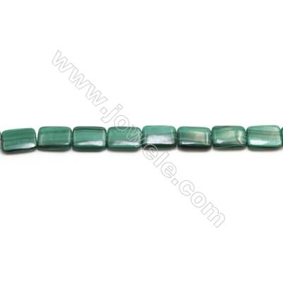 Natural Malachite Gemstone Beads Strand  Rectangle  Size: 12x16mm  Hole 1mm  about 25 beads/strand 15~16""