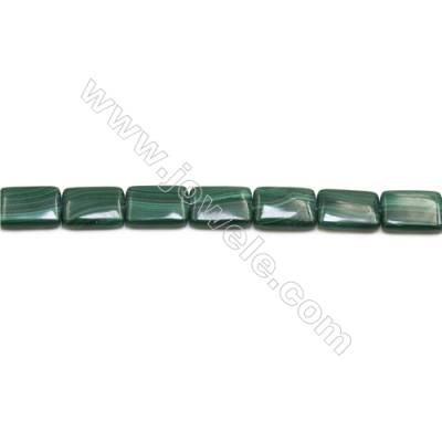 Natural Malachite Gemstone Beads Strand  Rectangle  Size: 13x18mm  Hole 1mm  about 22 beads/strand 15~16""