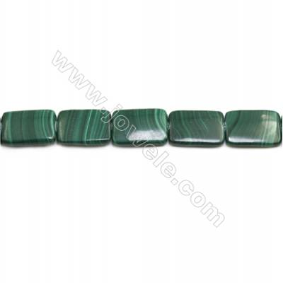 Natural Malachite Gemstone Beads Strand  Rectangle  Size: 18x25mm  Hole 1mm  about 16 beads/strand 15~16""