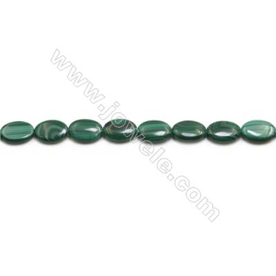 Natural Malachite Gemstone Beads Strand  Oval  Size: 13x18mm  Hole 0.8mm  about 22 beads/strand 15~16""