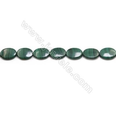 Natural Malachite Gemstone Beads Strand  Oval  Size: 15x20mm  Hole 0.8mm  about 20 beads/strand 15~16""