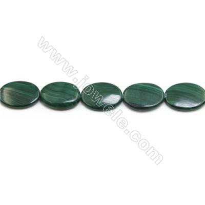 Natural Malachite Gemstone Beads Strand  Oval  Size 18x25mm  Hole 0.8mm  about 16 beads/strand 15~16""