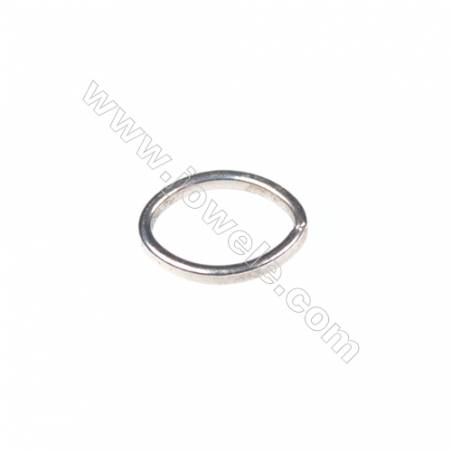 925 Sterling silver oval ring, 6x8 mm, x 100 pcs