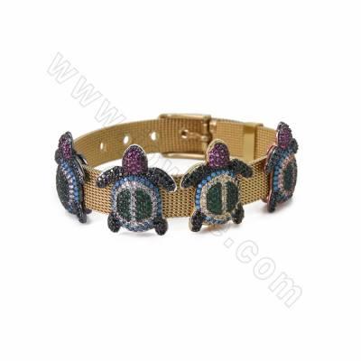 Brass Micro Pave Cubic...