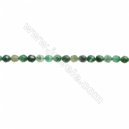 Natural African Jade Beads Strand  Faceted Round  Diameter 3mm  hole 0.6mm  about 120 beads/strand  15~16""