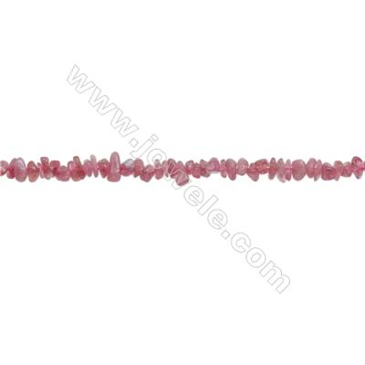 """Natural Red Tourmaline Beads Strand  Chips  Size 4~7x5~9mm  hole 0.8mm  15~16"""" x 1strand"""