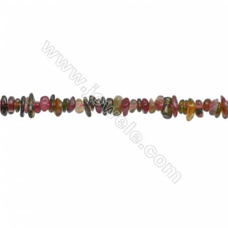 "Natural Tourmaline Beads Strand  Chips  Size 4~8x5~12mm  hole 0.8mm 15~16"" x 1strand"